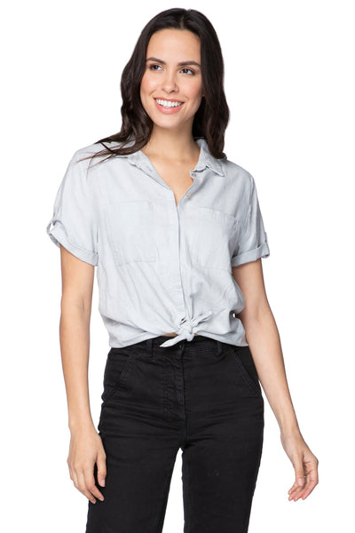 Linen Anne Button Up Shirt with double breasted pockets - Subtle Luxury