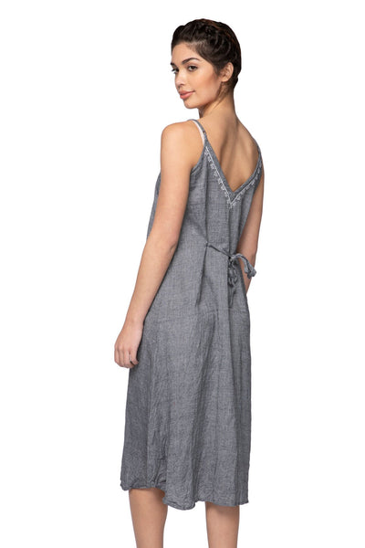Aubrey Midi Dress in Charcoal