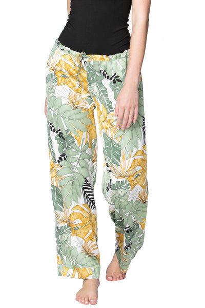 Bailey Beach Pant in Leafy Palms