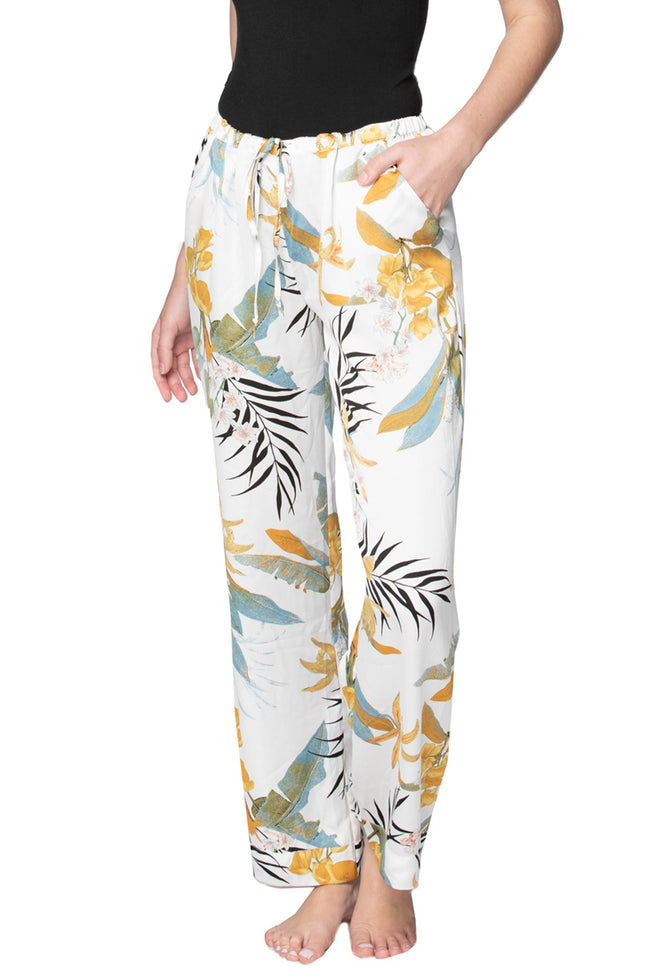 Bailey Beach Pant in Tropical Garden - Subtle Luxury