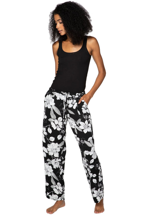 Bailey Beach Pant in Shadowed Petals - Subtle Luxury