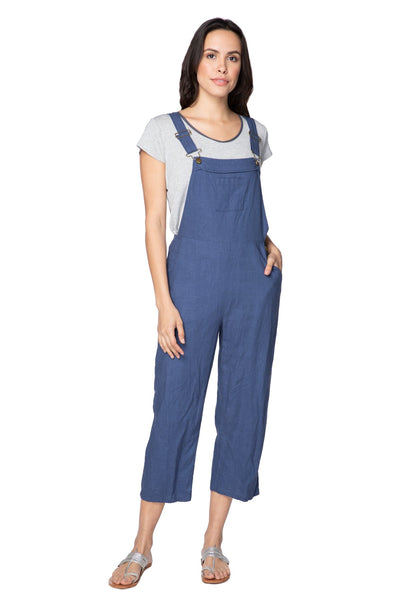 Linen Bethany Overall | High waisted, snug fit, adjustable multiwear straps - Subtle Luxury