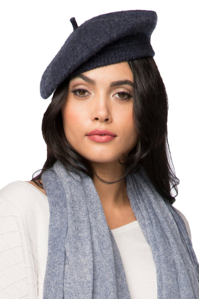 100% Wool Beret - snug fit, multiwear accessory - Subtle Luxury