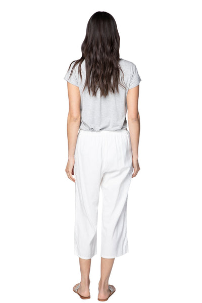 Linen Crop Beach Pant | wear at natural waist, adjustable waistband with removable tassels - Subtle Luxury