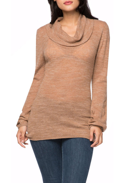 Flirty & Femme Sweater in Sandalwood - Subtle Luxury