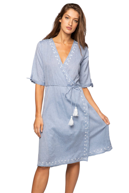 Hazel Kaftan Dress in Sky