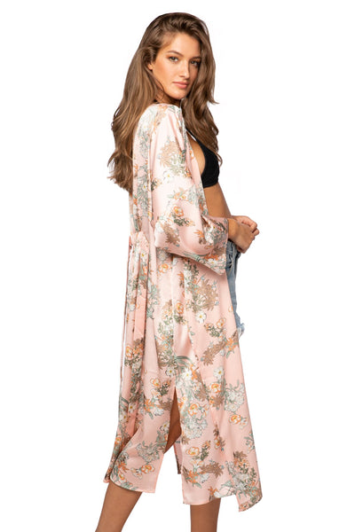 Bed to Brunch Kimono in Spring Bouquet - Subtle Luxury