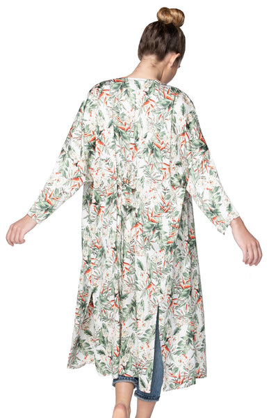 Bed to Brunch Kimono Duster Robe in Blooming Paradise - Subtle Luxury