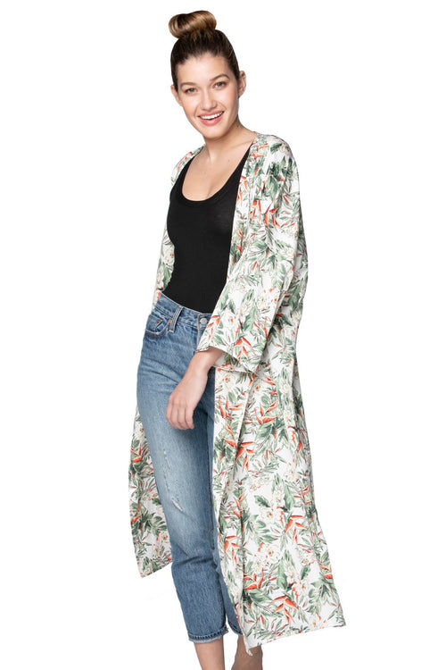 Bed to Brunch Kimono in Blooming Paradise