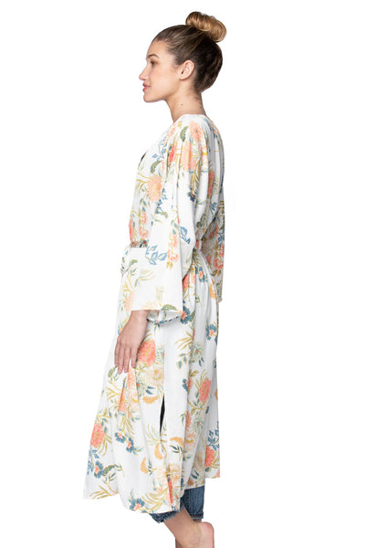 Bed to Brunch Kimono in Soft Bouquet - Subtle Luxury