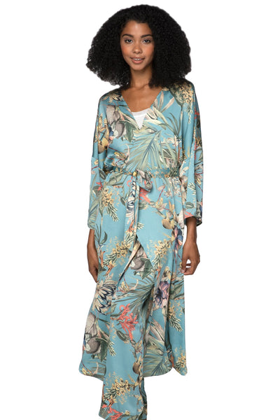 Bed to Brunch Kimono in Tropical Escape - Subtle Luxury