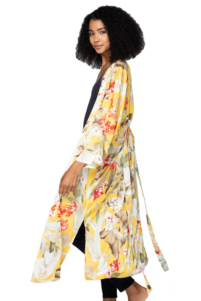 Bed to Brunch Kimono Robe in Golden Hour