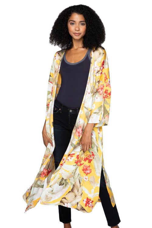 Bed to Brunch Kimono Robe in Golden Hour - Subtle Luxury