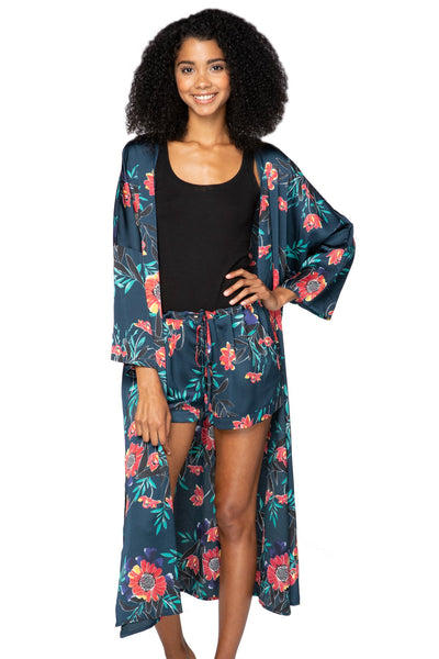 Bed to Brunch Kimono in Summer Bloom - Subtle Luxury