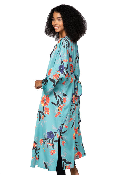 Bed to Brunch Kimono in Summer Bloom