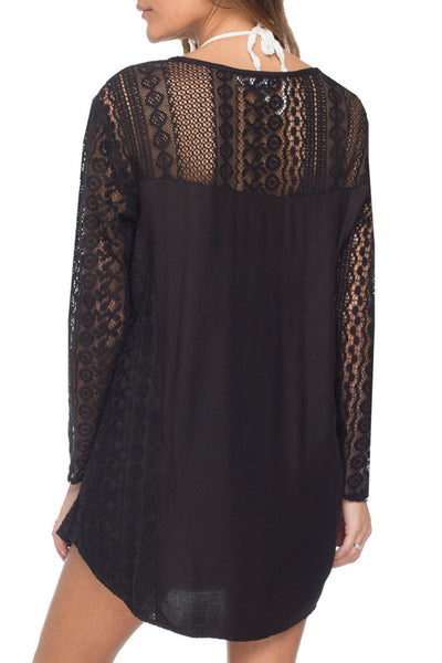 Dreamer Lace Dress in Midnight - Subtle Luxury