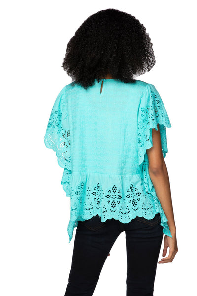 Fae Crop Top in Turquoise - Subtle Luxury
