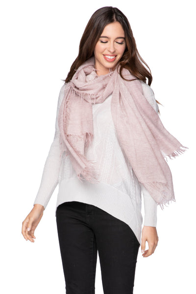 100% Cashmere Luxury Scarf, New York Parkway print in Mauve - Subtle Luxury