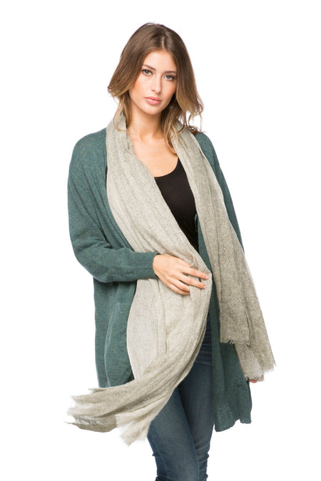 100% Cashmere Open Stitch Travel Wrap
