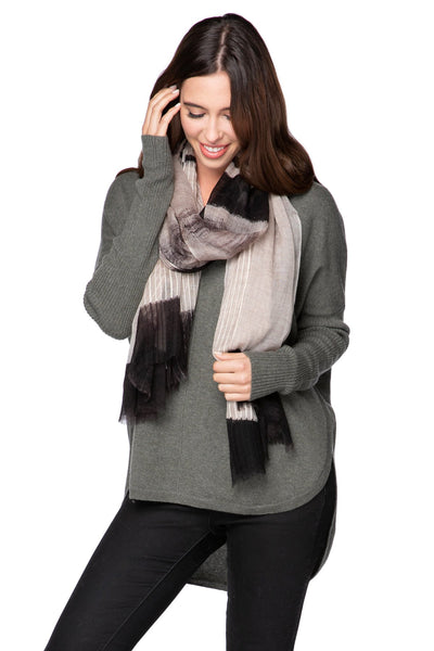 Kirkwood Extra Fine Wool Luxury Wrap Scarf in Tan - Subtle Luxury