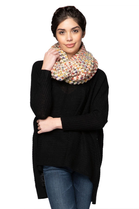 Multi Color Infinity Scarf in Multi by Spun