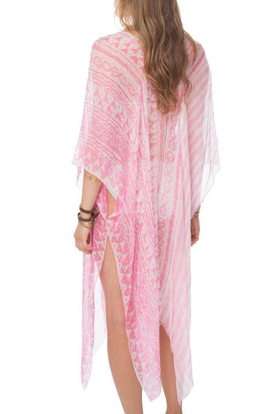 Tribal Princess Maxi Kaftan in Pink