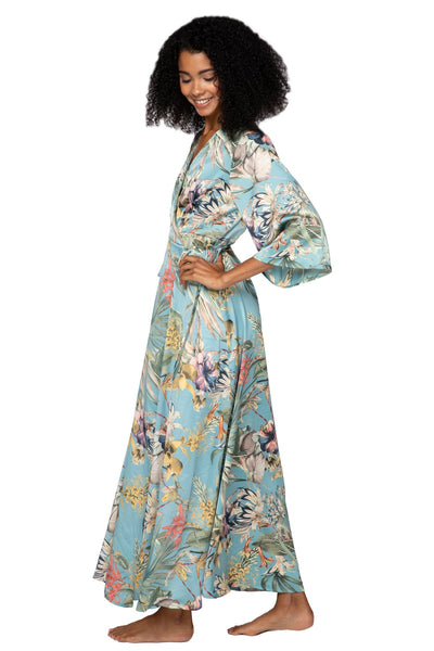 Tropical Escape Maxi Kimono Dress - Subtle Luxury