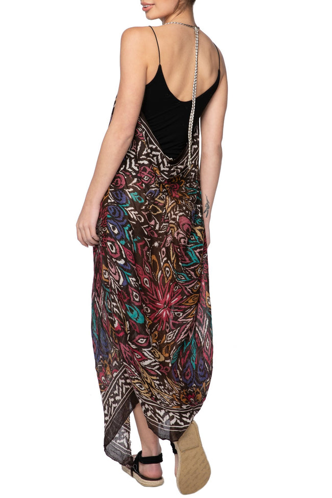 Maxi Tassel Dress in Boho Beauty Print | cover up sun dress - Pool to Party - Subtle Luxury