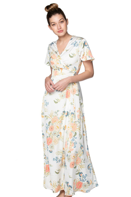 Tropical Garden High Low Wrap Dress