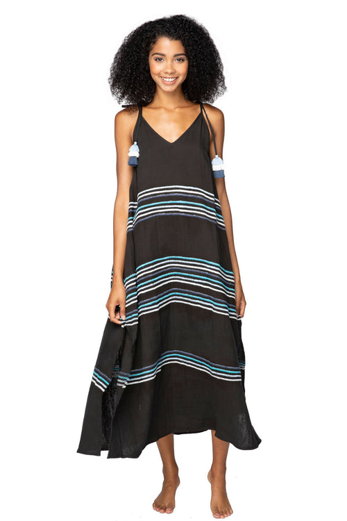 Maxi Morrigan Dress in Black - Subtle Luxury
