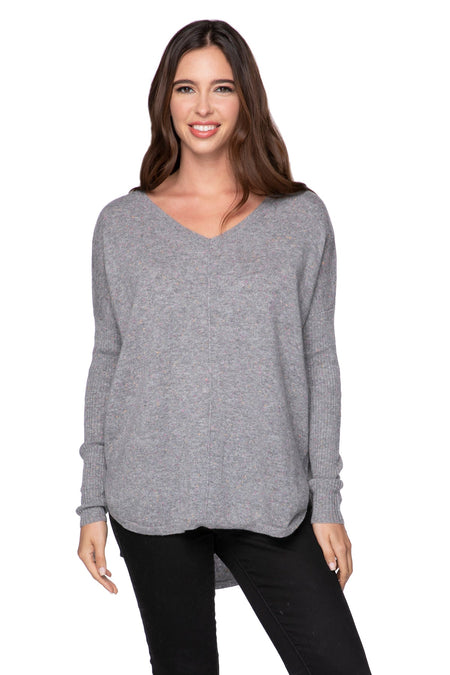 Claire Textured V-Neck in Nite
