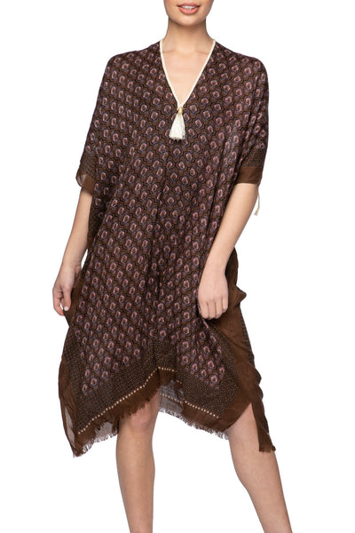 Moroccan Peacock Open Shoulder Dress