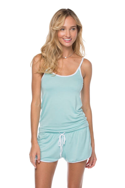 Pippa Tank + Shorts set in Azure