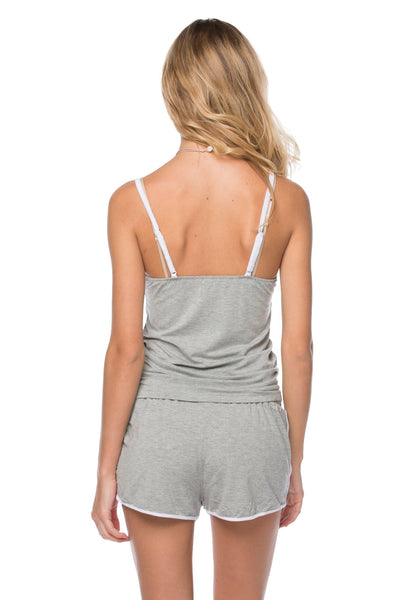 Pippa Tank + Shorts set in Heather Grey