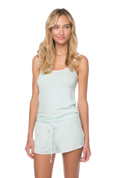 Pippa Tank + Shorts set in Mint
