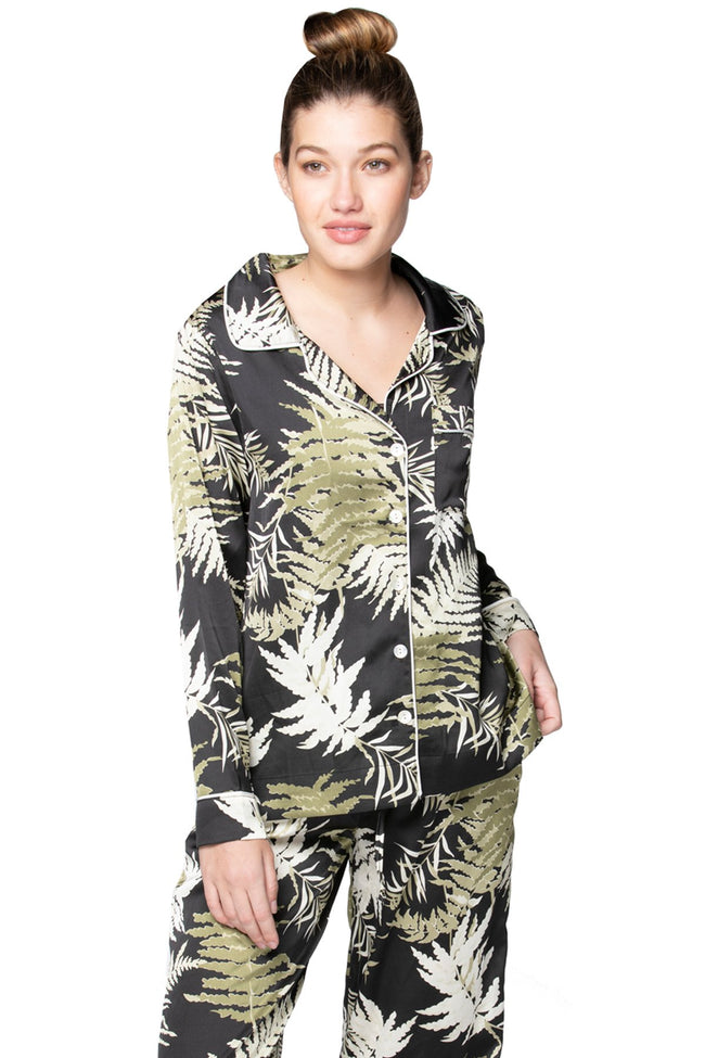 Bed to Brunch Piper Shirt in Bold Ferns