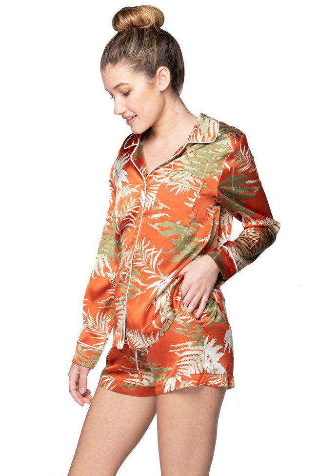 Bed to Brunch Piper Shirt in Bold Ferns - Subtle Luxury
