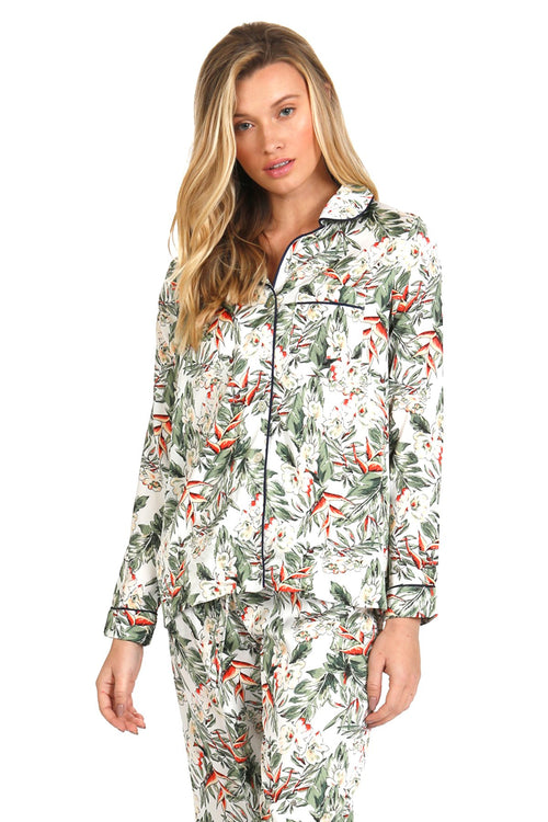 Bed to Brunch Piper Shirt in Blooming Paradise - Subtle Luxury
