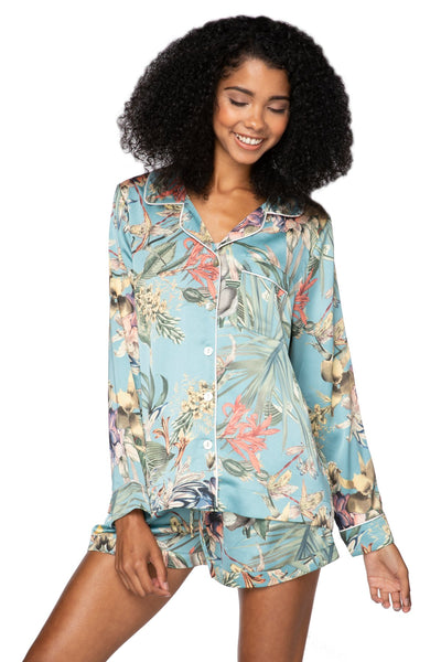 Bed to Brunch Piper Shirt in Tropical Escape