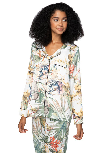 Bed to Brunch Piper Shirt in Tropical Escape - Subtle Luxury