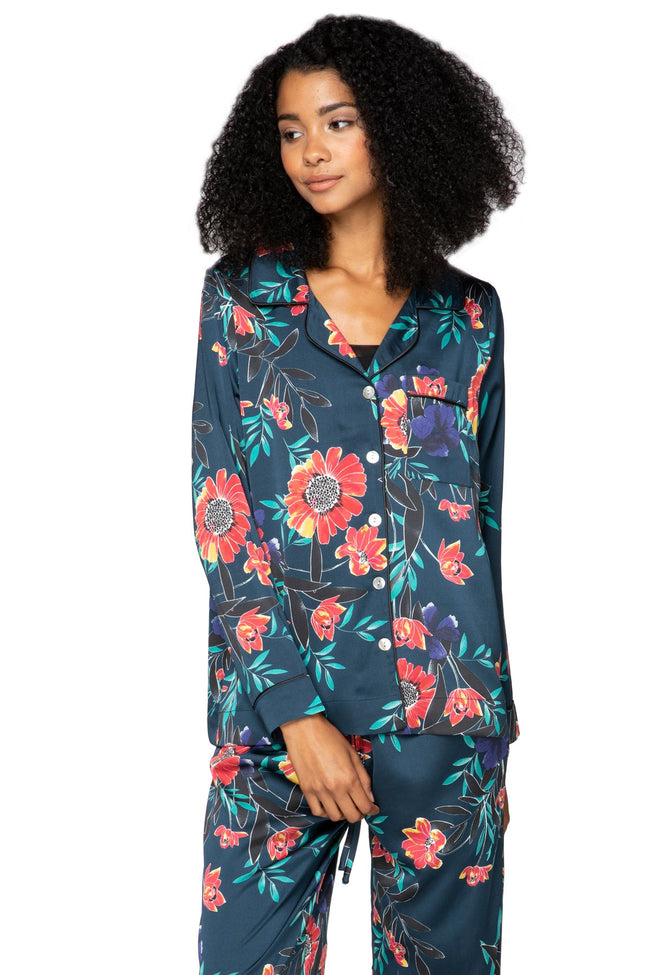 Bed to Brunch Piper Shirt in Summer Bloom - Subtle Luxury