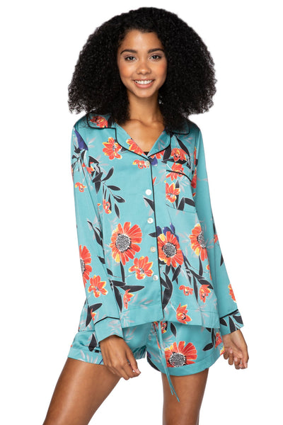 Bed to Brunch Piper Shirt in Summer Bloom