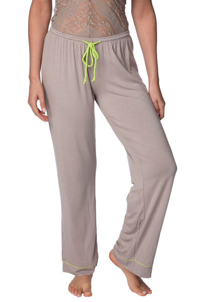 Pippa PJ Pant in Latte/Citrus - Subtle Luxury