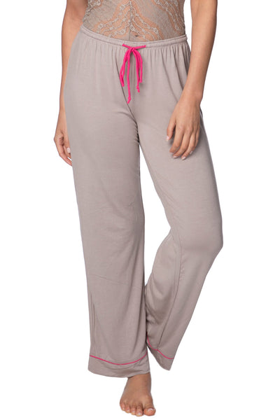 Pippa PJ Pant in Latte with Citrus or Hibiscus Piping