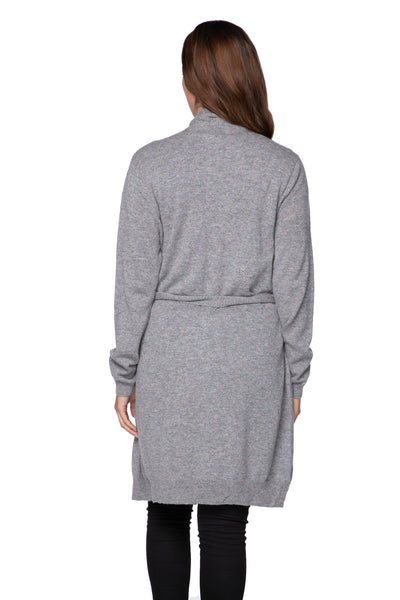 100% Cashmere Robyn Robe in Confetti Grey