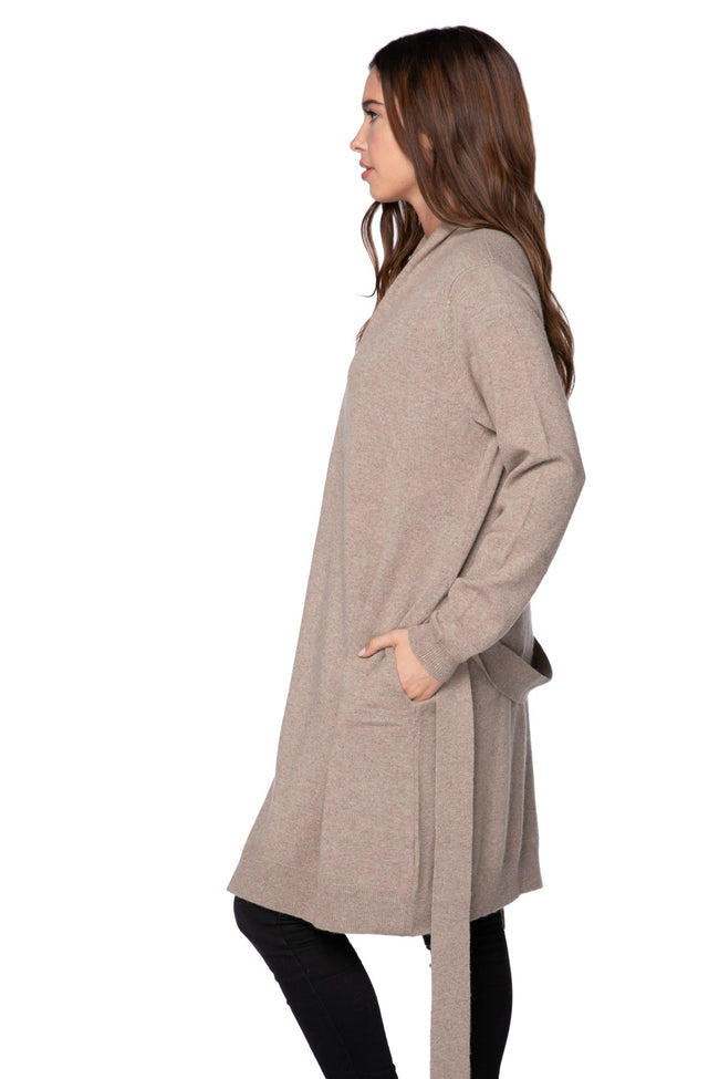 100% Cashmere Robyn Robe / Duster in Latte - Subtle Luxury