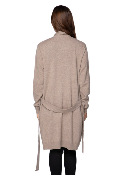 100% Cashmere Robyn Robe / Duster in Latte