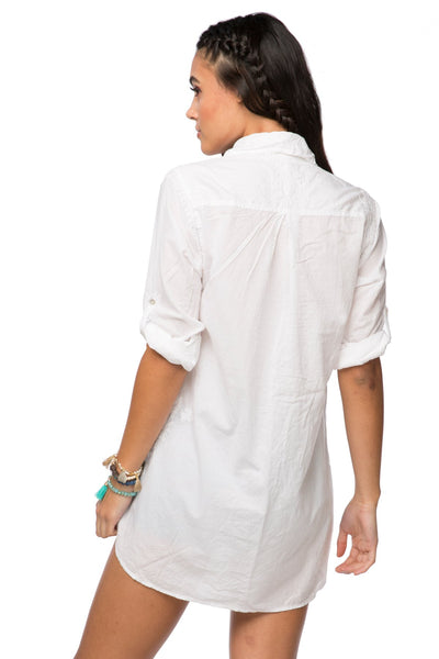 Boyfriend shirt in Chambray - White - Subtle Luxury