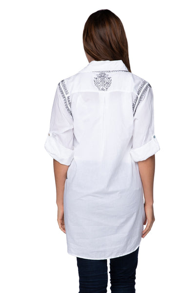 Boyfriend Shirt in White/Noir