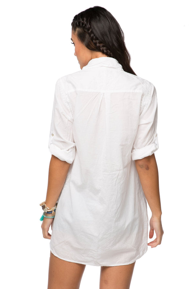Boyfriend Shirt in White - Subtle Luxury